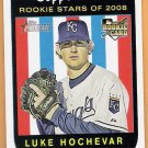 LUKE HOCHEVAR 2008 Topps Heritage News ROOKIE Card #129 KANSAS CITY ROYALS Baseball FREE SHIPPING RC