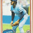 WILLIE AIKENS 1981 Topps Card #524 KANSAS CITY ROYALS Baseball FREE SHIPPING 524