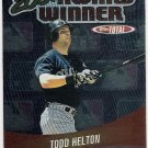 TODD HELTON 2002 Topps Total Award Winners INSERT Card AW15 COLORADO ROCKIES Baseball FREE SHIPPING