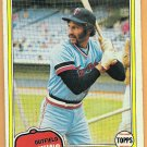 KEN LANDREAUX 1981 Topps Card #219 MINNESOTA TWINS Baseball FREE SHIPPING 219