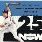 JUSTIN MORNEAU 2007 Topps Generation Now INSERT Card #GN141 MINNESOTA TWINS Baseball FREE SHIPPING