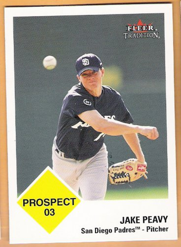 JAKE PEAVY 2003 Fleer Tradition Prospect ROOKIE Card #427 SAN DIEGO PADRES Baseball FREE SHIPPING RC