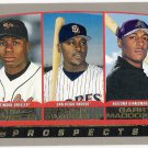 TIM RAINES GARRY MADDOX & GARY MATTHEWS JR 2002 Topps ROOKIE Card #445 FREE SHIPPING Baseball RC