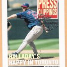 ROY HALLADAY 2004 Fleer Classic Clippings Press INSERT Card #8PC TORONTO BLUE JAYS Free Shipping