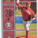 ERIC JUNGE 2002 Upper Deck Ballpark Idols Short Print ROOKIE Card #232 PHILADELPHIA PHILLIES #'d