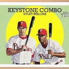 CHASE UTLEY & JIMMY ROLLINS 2008 Topps Heritage Card #408 PHILADELPHIA PHILLIES Free Shipping 408