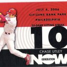 CHASE UTLEY 2007 Topps Generation Now INSERT Card #GN60 PHILADELPHIA PHILLIES Baseball FREE SHIPPING
