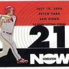 CHASE UTLEY 2007 Topps Generation Now INSERT Card #GN71 PHILADELPHIA PHILLIES Baseball FREE SHIPPING