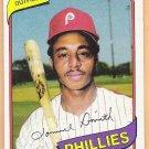 LONNIE SMITH 1980 Topps Burger King Card #14 PHILADELPHIA PHILLIES Baseball FREE SHIPPING 14