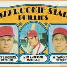 PHILADELPHIA PHILLIES 1972 Topps Rookie Stars Card #14 Baseball FREE SHIPPING NOT In Mint Condition