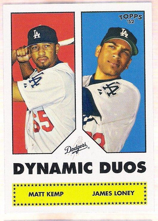 JAMES LONEY & MATT KEMP 2006 Topps 52 Dynamic Duos INSERT Card DD12 Los Angeles Dodgers