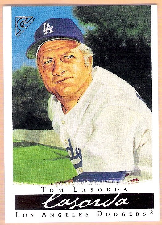 TOMMY LASORDA 2003 Topps Gallery HOF Card #7 Los Angeles Dodgers FREE SHIPPING