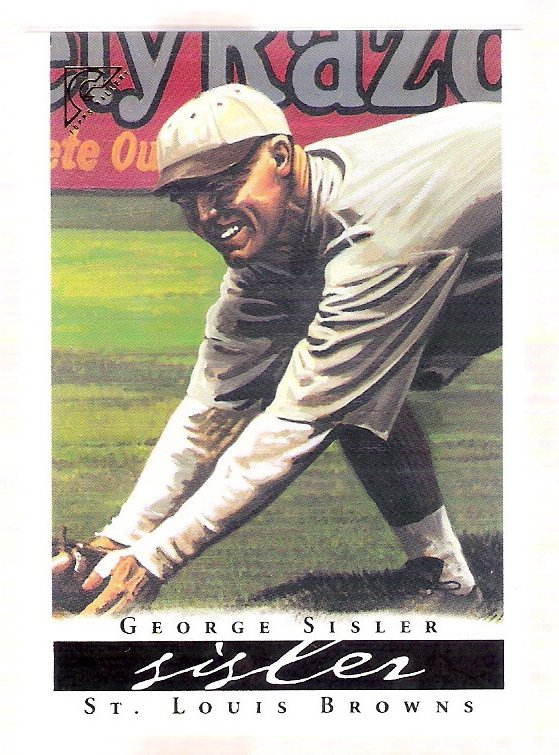 GEORGE SISLER 2003 Topps Gallery HOF Baseball Card #58 St Louis Browns FREE SHIPPING
