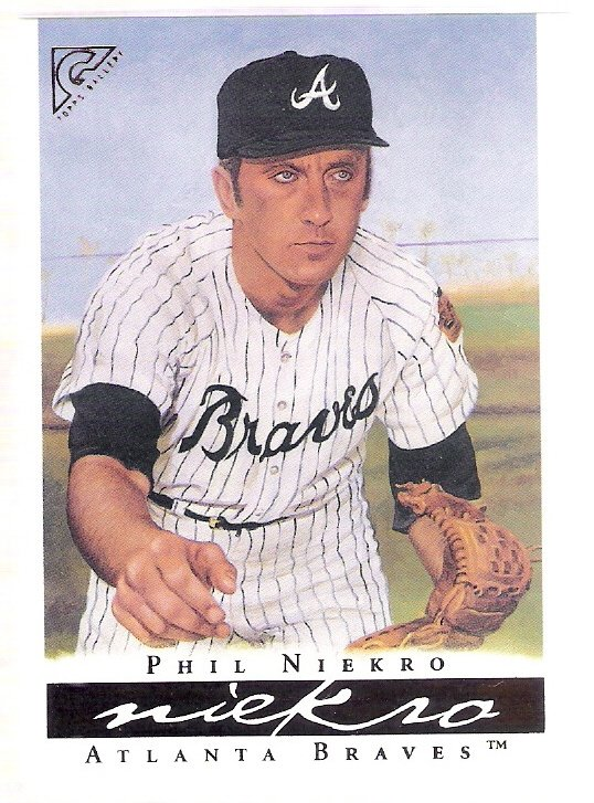 PHIL NIEKRO 2003 Topps Gallery HOF Card #17 Atlanta Braves FREE SHIPPING Baseball