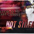 YASIEL PUIG 2015 Topps Baseball Hot Streak INSERT Card #HS-1 LOS ANGELES DODGERS FREE SHIPPING