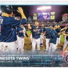 MINNESOTA TWINS 2015 Topps Baseball Team Card #504 Series 2 FREE SHIPPING Joe Mauer 504