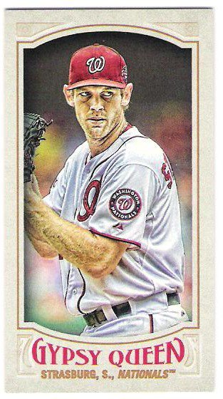STEPHEN STRASBURG 2016 Topps Gypsy Queen MINI Parallel INSERT Card #19 WASHINGTON NATIONALS Baseball