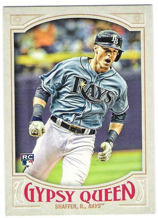 RICHIE SHAFFER 2016 Topps Gypsy Queen ROOKIE Card #108 TAMPA BAY RAYS Baseball FREE SHIPPING 108