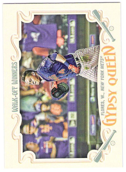WILMER FLORES 2016 Topps Gypsy Queen Walk-Off Winners INSERT Card #GWO-7 NEW YORK METS Baseball