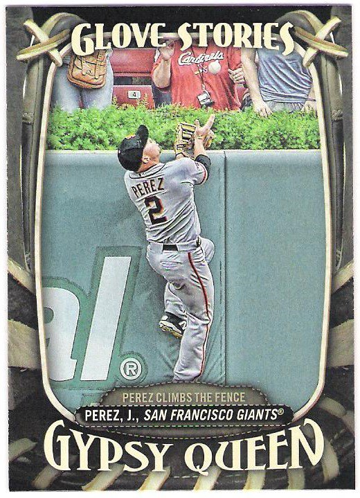 JUAN PEREZ 2016 Topps Gypsy Queen Glove Stories INSERT Card #GS-4 SAN FRANCISCO GIANTS Baseball