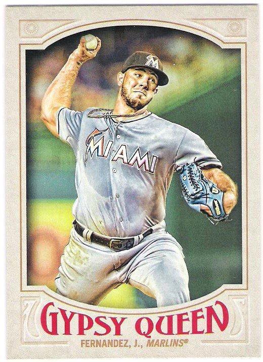 JOSE FERNANDEZ 2016 Topps Gypsy Queen Baseball Card #33 MIAMI MARLINS FREE SHIPPING 33