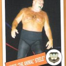 GEORGE THE ANIMAL STEELE 2015 Topps Heritage WWE Legend Wrestling Card #20 WWF Hall of Fame Ed Wood