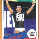 BO DALLAS 2015 Topps Heritage WWE Wrestling Card #64 Bo-Lieve Rotundo NXT Champion WWF FREE SHIPPING