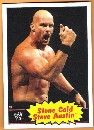 STEVE AUSTIN 2012 WWE Topps Heritage Wrestling Card #54 Stone Cold WWF WCW Rattlesnake Free Shipping