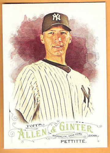 ANDY PETTITTE 2016 Topps Allen & Ginter SHORT PRINT Baseball Card #308 NEW YORK YANKEES SP 308