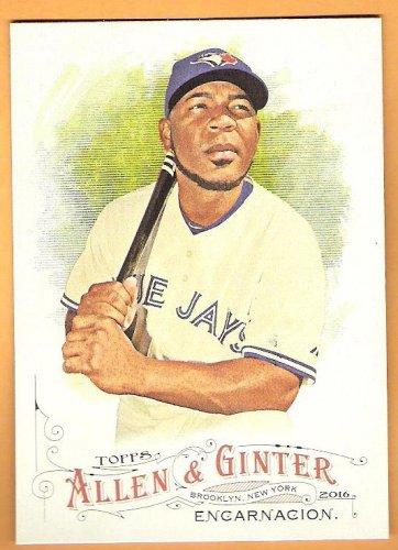 EDWIN ENCARNACION 2016 Topps Allen & Ginter Baseball Card #80 TORONTO BLUE JAYS FREE SHIPPING 80 A&G
