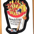 BENCH FRIES 2016 Topps Baseball Wacky Packages Sticker Card #82 Oddball FREE SHIPPING 82