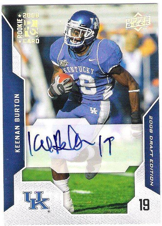 KEENAN BURTON 2008 Upper Deck Draft AUTOGRAPH Rookie Card #58 Kentucky St Louis Rams FREE SHIPPING