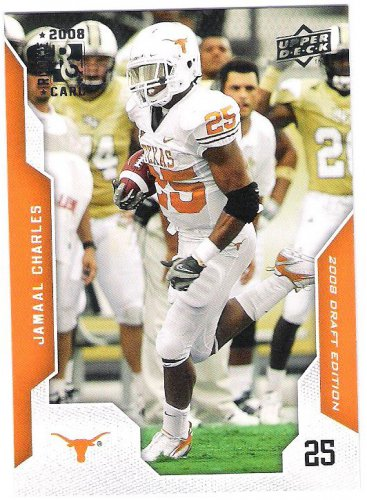 JAMAAL CHARLES 2008 Upper Deck Draft Edition ROOKIE Card #46 Kansas City Chiefs FREE SHIPPING