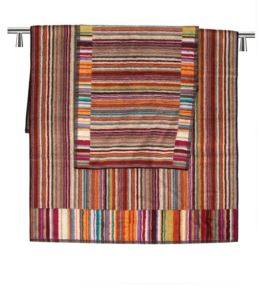 Missoni Home set 2 bath towels +1 hand towel 159 Jazz orange, blue and violet
