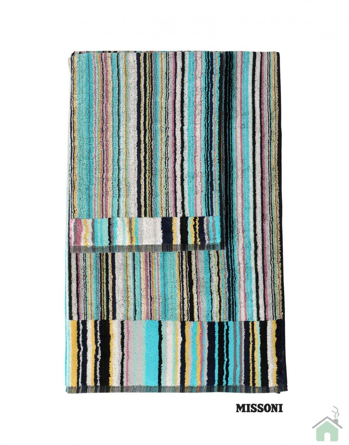 Set of 1 bath towel +2 hand towels Missoni Home Jazz var.170