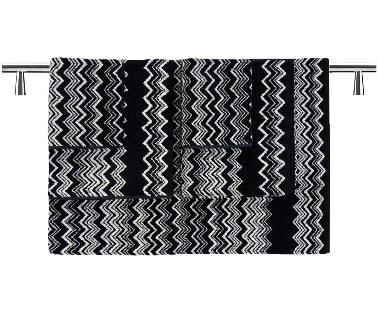 MISSONI HOME KEITH 5-piece set BLACK AND WHITE ZIG ZAG