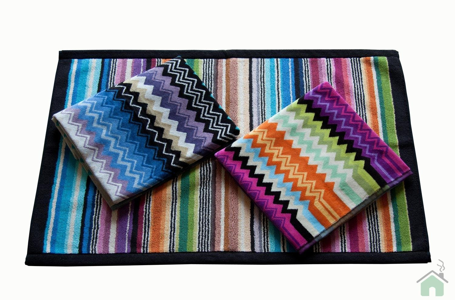 2 towels set 1+1 Missoni Giacomo 156-170 + Missoni Hill bathmat