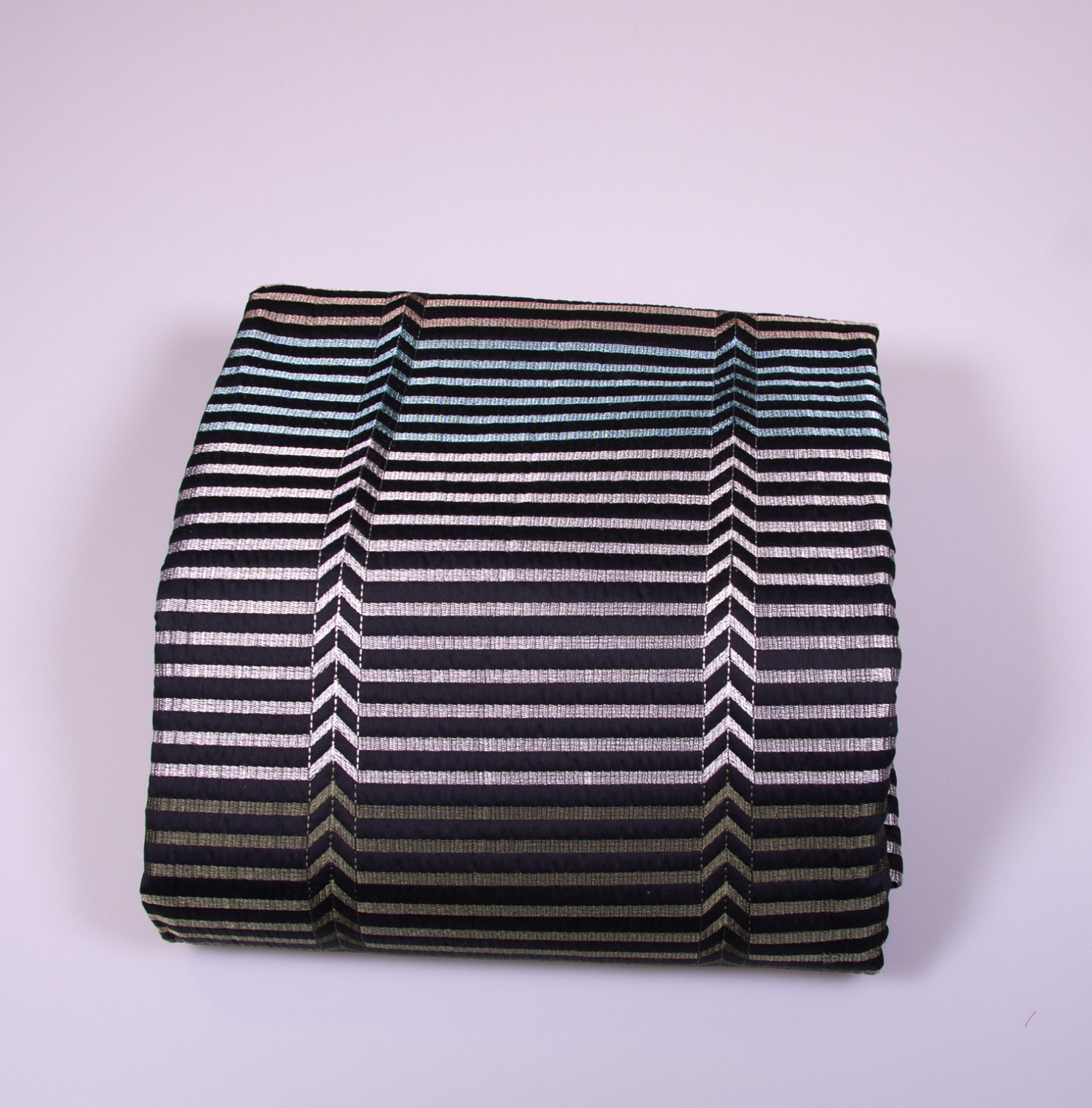 Missoni bedspreads to bed Blue striped cotton on black background