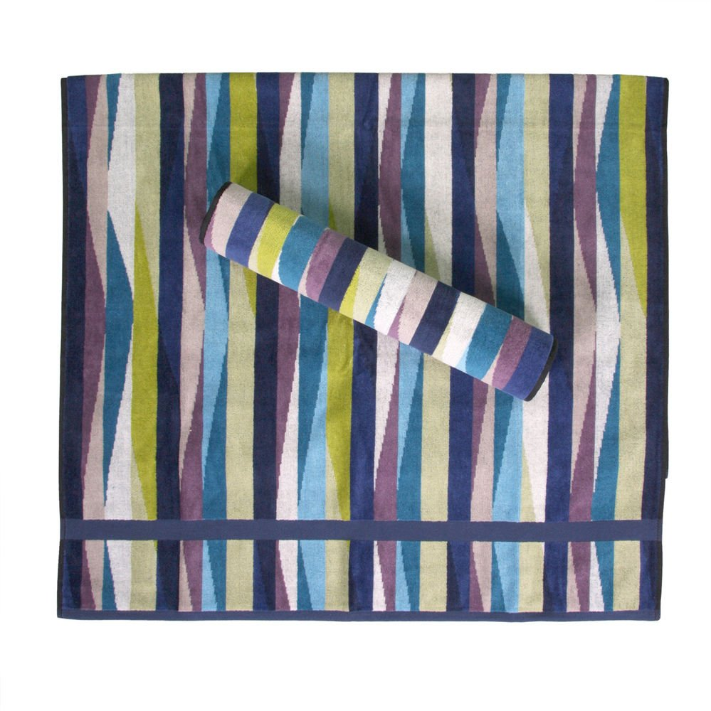 Missoni Home Romy 170 2015 set of 2 bath sheets+1 hand towel multicolor waves