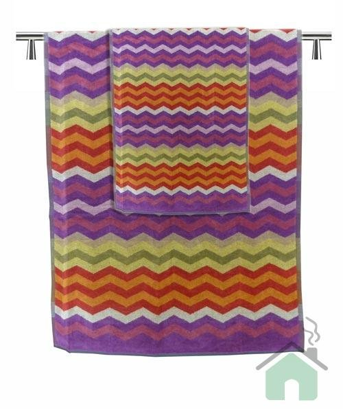 Set of 1 bath towel +2 hand towels Missoni Home Pete var.156 - zig-zag pattern
