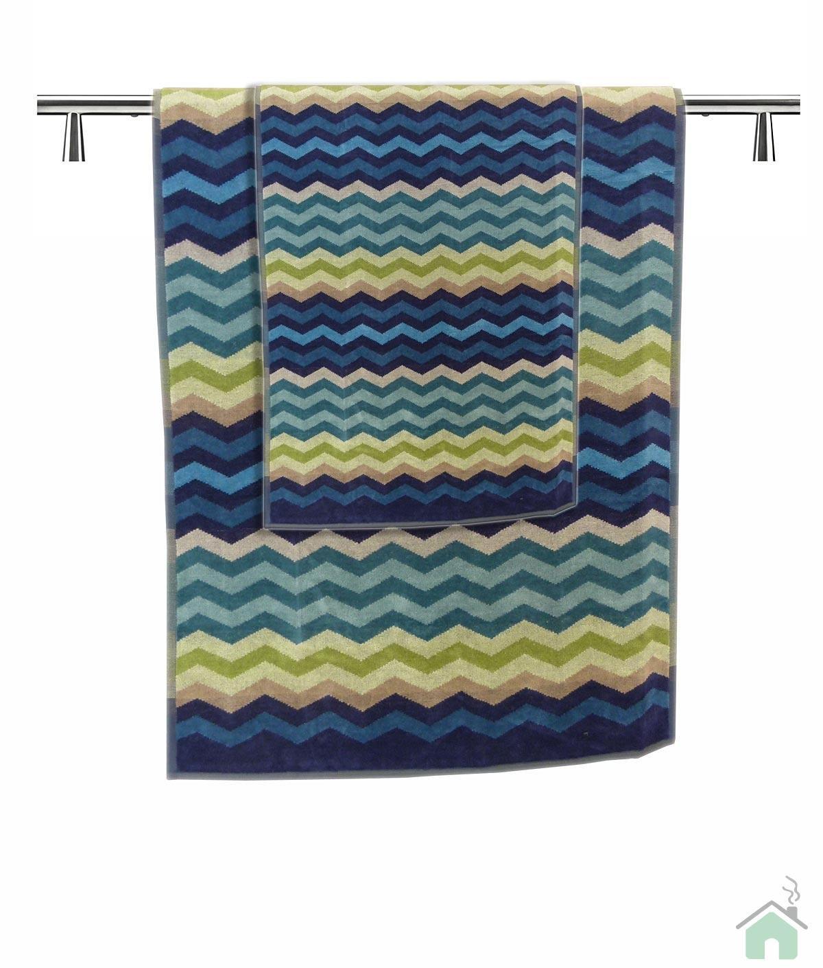 Towels set 1+1 Missoni Home Pete var.170 - zig-zag pattern
