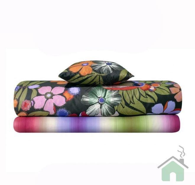 Duvet cover for queen bed Missoni Pauline var.100 flowery design fashion