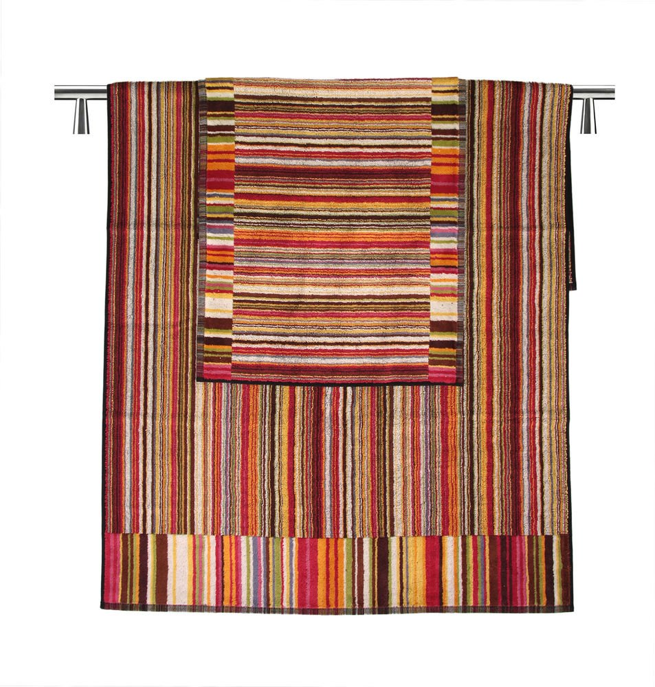 Missoni Home 2015 156 Jazz set 3 pieces tones of red, Brown, Orange and green