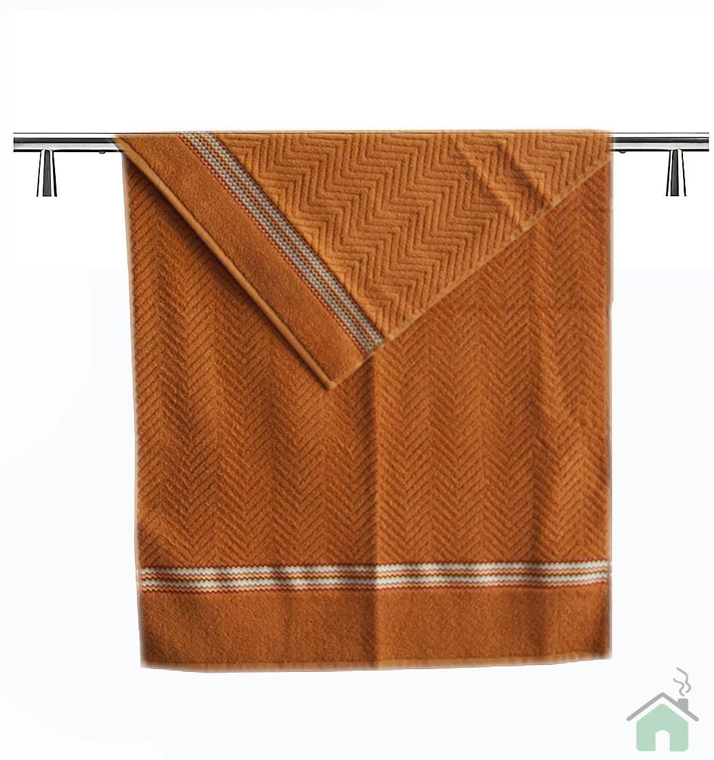 Set 2 bath towels Missoni Home chevron 60x100 cm (23.64x39.4 in) - orange