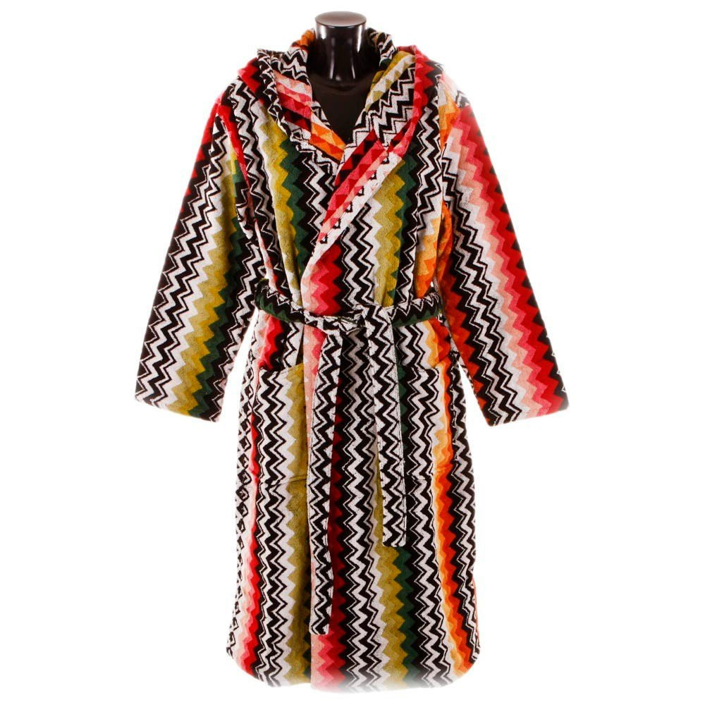 Missoni Home Bath robe with hood chevron ZIG-ZAG multicolored NILES