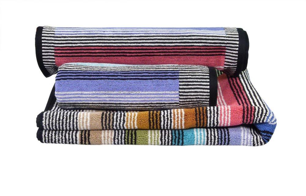 Missoni Home Ross 2015 2 bath towels+2 bath sheets set multicolor stripes