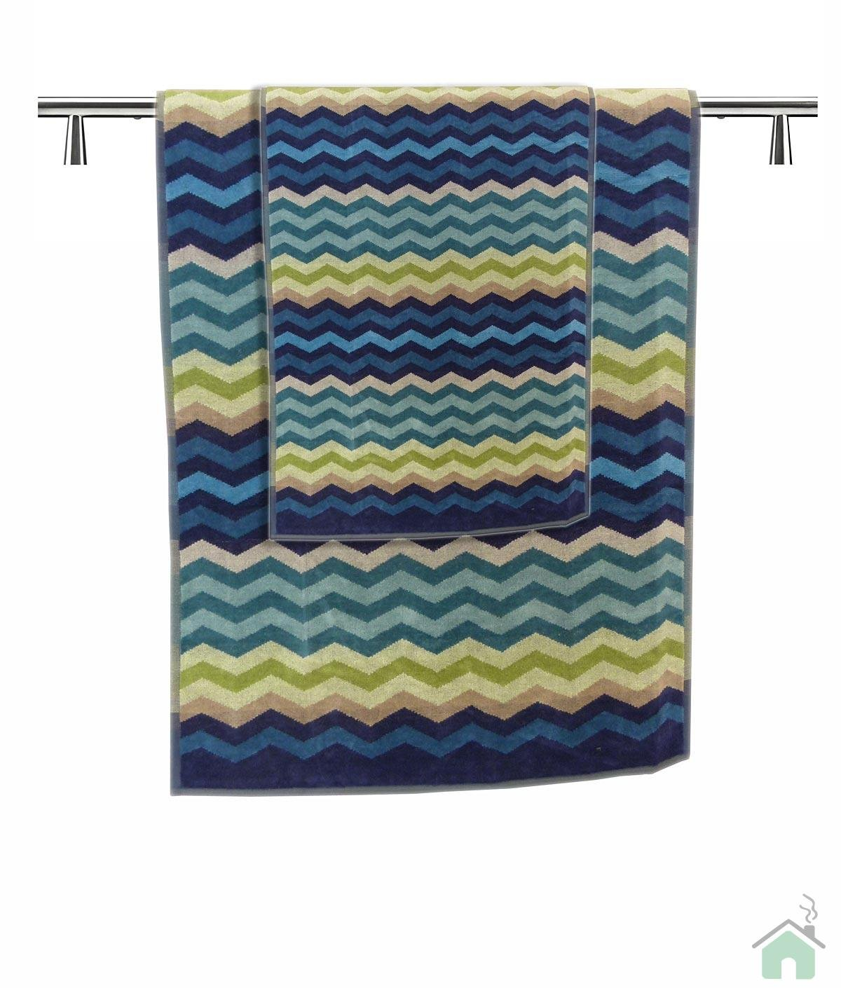 Towels set 6+6 Missoni Home Pete var.170 - zig-zag pattern