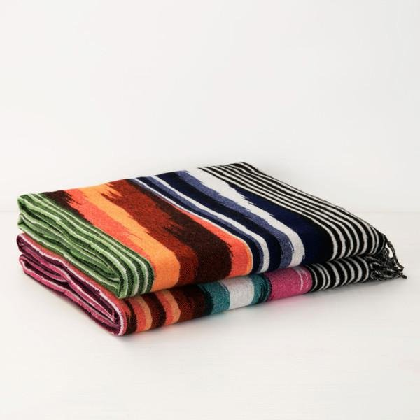 Oberon wool and cashmere-blend throw