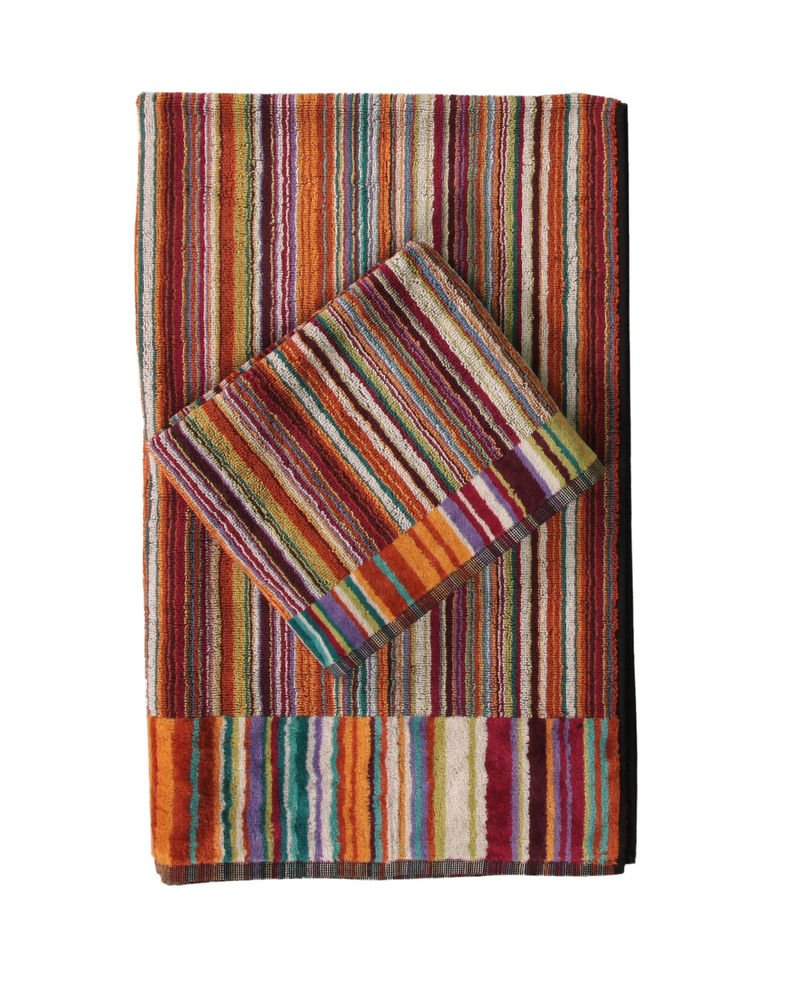 Missoni Home 2 bath towels 159 Jazz orange, blue and violet
