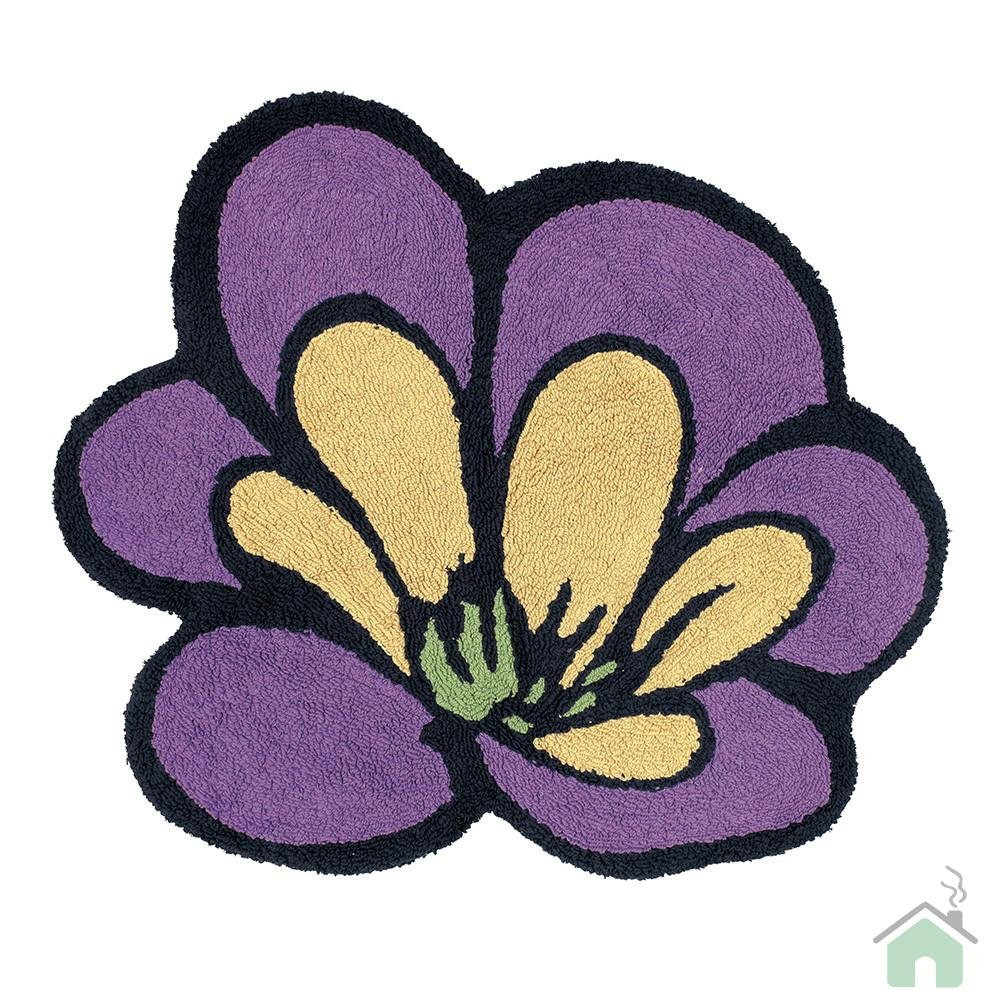 Missoni Bathroom Rugs Purple Floral Flower Bath Mat Floor Under Foot Shower